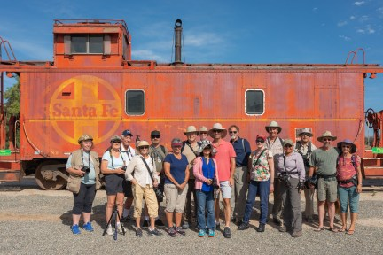Our group at the Pacific Southwest Railroad Museum in Campo, July 21st 2018.