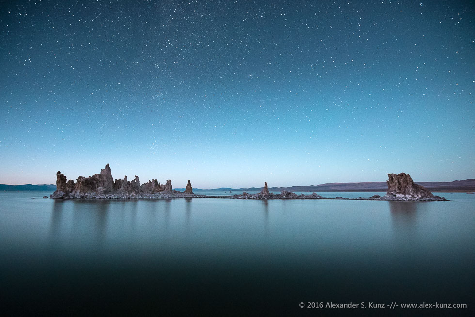 Shipwreck Tufa under Stars, South Tufa, Mono Lake, California, September 2016