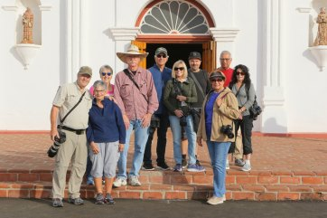 Our group at Old Mission San Luis Rey for Dia De Los Muertos
