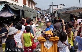 [泰國景點] 美功鐵道市場@過於觀光化少了驚奇感の火車來囉 …