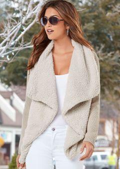 Shearling Knit Cardigan