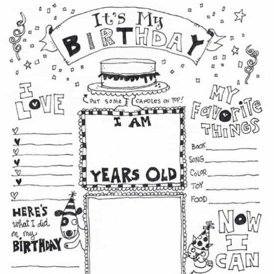 Happy Birthday Coloring Page Craftgawker