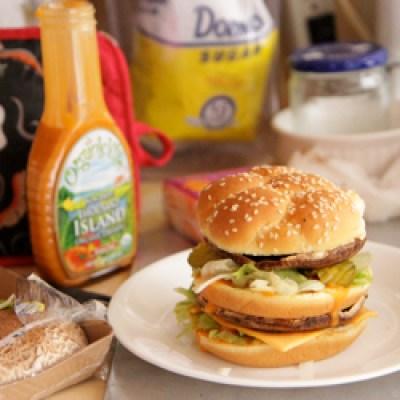 mcdonalds big mac burger made vegan