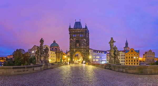 Charles Bridge Prague in Czech Republic Virtual Reality tour