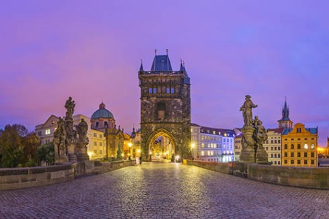 Charles Bridge Prague in Czech Republic Virtual Reality tour