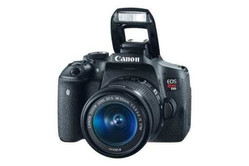 eos rebel t6i dslr camera 3q flash d - Canon EOS Rebel T6i EF-S 18-55mm IS STM Lens Kit