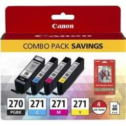 49dde785 abae 45fb 9597 5e24d4fec69b - Canon PGI-270/CLI-271 CMYK 4-Cartridge Combo Pack
