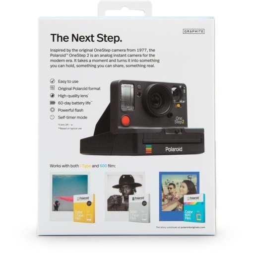 Polaroid Originals OneStep2 Instant Film Camera 04 - Polaroid Originals OneStep 2 Instant Film Camera, Graphite Black