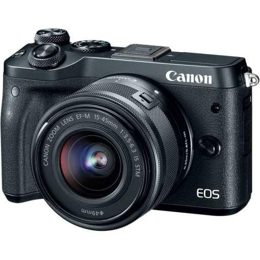 748cdbc9 1f4a 46d5 a43b 6618288d3a1f - Canon EOS M6 EF-M 15-45mm f/3.5-6.3 IS STM Lens Kit (Black)