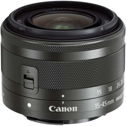 Canon EF M 15 45mm f3.5 6.3 IS STM Lens Graphite - Canon EOS M5 EF-M 15-45mm f/3.5-6.3 IS STM Lens Kit