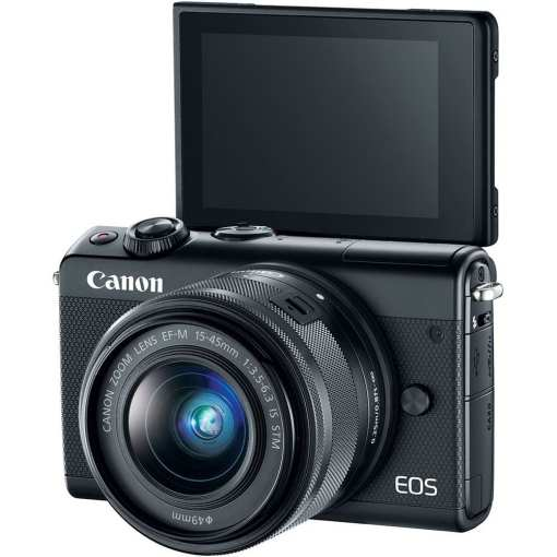 Canon EOS M100 Mirrorless Digital Camera with 15 45mm Lens Black 03 - Canon EOS M100 Mirrorless Digital Camera with 15-45mm Lens (Black)