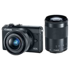 Canon EOS M100 Mirrorless Digital Camera with 15 45mm and 55 200mm Lenses Black 01 - Cart