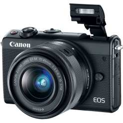 Canon EOS M100 Mirrorless Digital Camera with 15 45mm and 55 200mm Lenses Black 03 - Cart