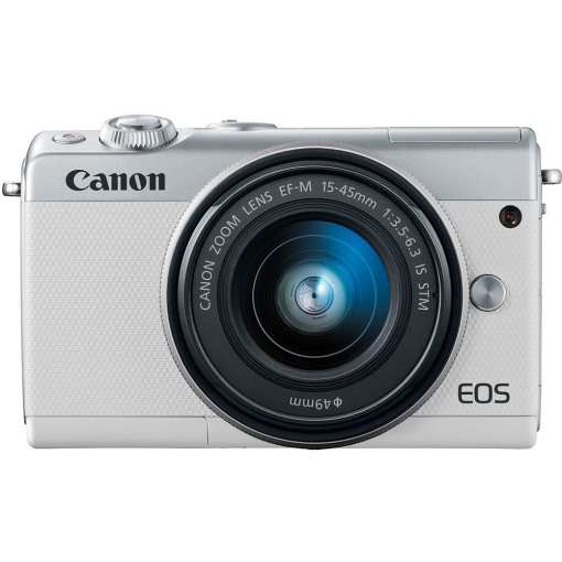 Canon EOS M100 Mirrorless Digital Camera with 15 45mm and 55 200mm Lenses White 06 - Canon EOS M100 Mirrorless Digital Camera with 15-45mm and 55-200mm Lenses (White)