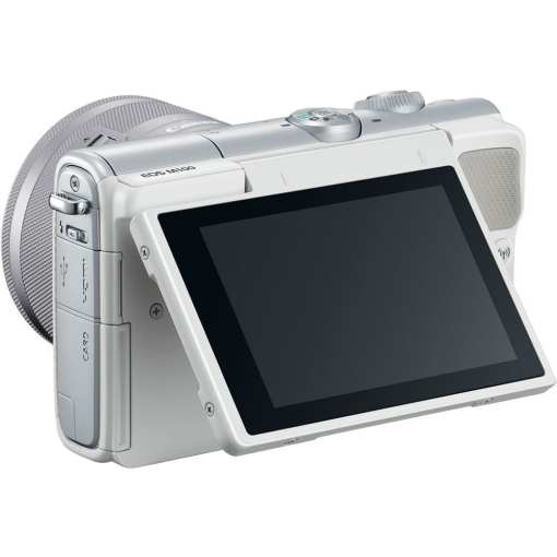 Canon EOS M100 Mirrorless Digital Camera with 15 45mm and 55 200mm Lenses White 08 - Canon EOS M100 Mirrorless Digital Camera with 15-45mm and 55-200mm Lenses (White)