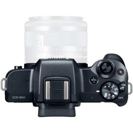 Canon EOS M50 Mirrorless Digital Camera Body Only Black 03 - Canon EOS M50 Mirrorless Camera Body w/ 4K Video (Black)