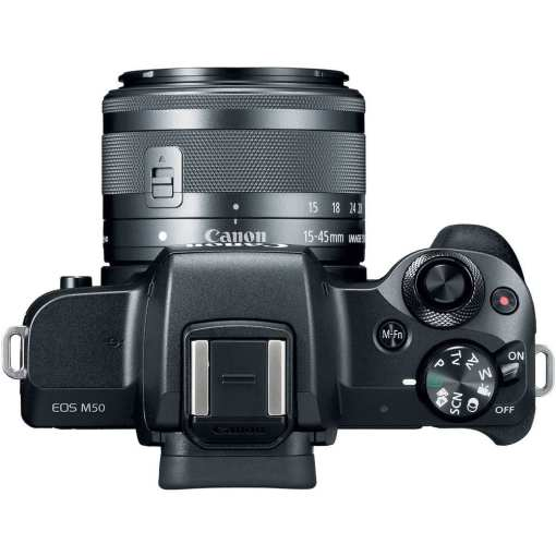 Canon EOS M50 Mirrorless Digital Camera with 15 45mm and 55 200mm Lenses Black 05 - Canon EOS M50 Mirrorless Camera Kit w/  EF-M15-45mm + EF-M 55-200mm Lenses and 4K Video (Black)