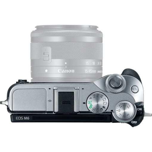 Canon EOS M6 Mirrorless Digital Camera Body Only Silver 03 - Canon EOS M6 Body (Silver)