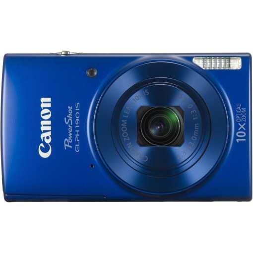 Canon PowerShot ELPH 190 IS Digital Camera Blue 02 - Canon PowerShot ELPH 190 IS with 10x Optical Zoom and Built-In Wi-Fi (Blue)