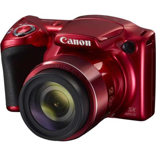 Canon PowerShot SX420 IS Digital Camera Red 01 - Canon PowerShot SX420 IS with 42x Optical Zoom and Built-In Wi-Fi (Red)