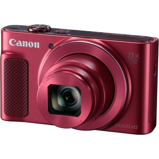 Canon PowerShot SX620 HS Digital Camera Red 01 - Canon PowerShot SX620 Digital Camera w/25x Optical Zoom - Wi-Fi & NFC Enabled (Red)