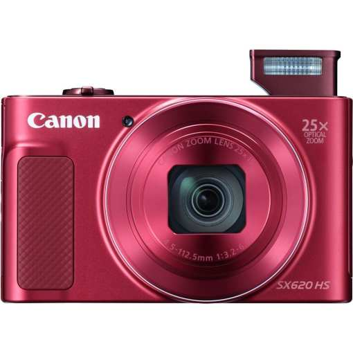 Canon PowerShot SX620 HS Digital Camera Red 03 - Canon PowerShot SX620 Digital Camera w/25x Optical Zoom - Wi-Fi & NFC Enabled (Red)