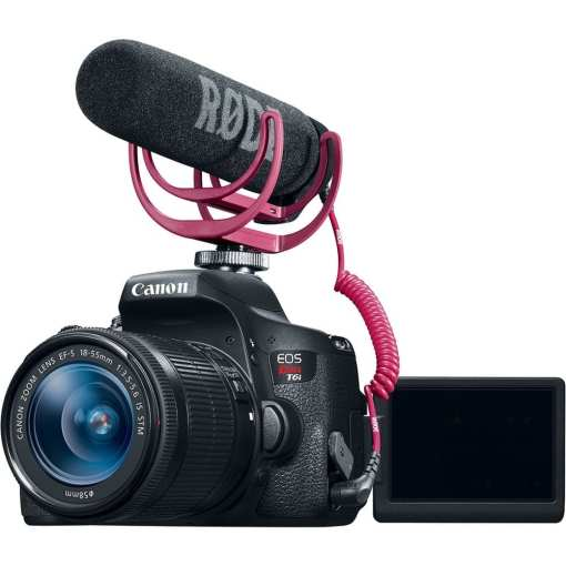 bc521b3c 94c0 4ce9 a98e 450e62d99d18 - Canon EOS Rebel T6i Video Creator Kit with 18-55mm Lens, Rode VIDEOMIC GO and Sandisk 32GB SD Card Class 10 - Wi-Fi Enabled