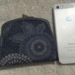 藍染めがま口財布2