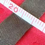 杉綾織平テープ20mm濃いグレー2