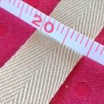 杉綾織平テープ20mm黄緑グレー2