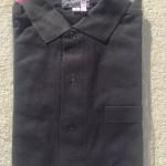 メンズ長袖シャツ黒1