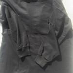 メンズ長袖シャツ黒4