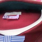 メンズ長袖シャツ赤2