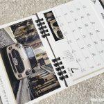 BMWミニ2017卓上カレンダー7月