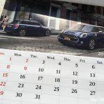 BMWミニ2017カレンダー1月