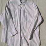 ラコステボタンダウンシャツ白1