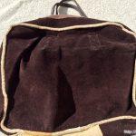 レトロ革製手提げバッグ茶色内側3