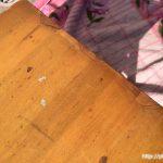 レトロな折りたたみサイドテーブル天板2