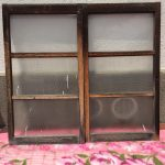 戸車付き縦長ガラス戸2