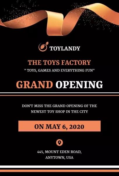grand opening invitation templates