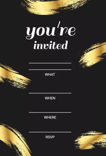 blank invitation templates photoadking