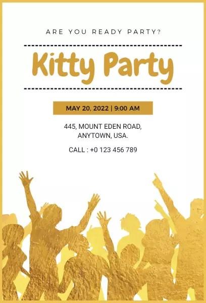 kitty party invitation templates