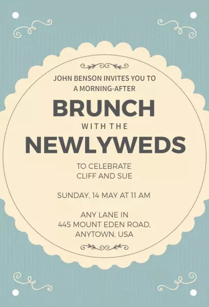 brunch invitation templates photoadking