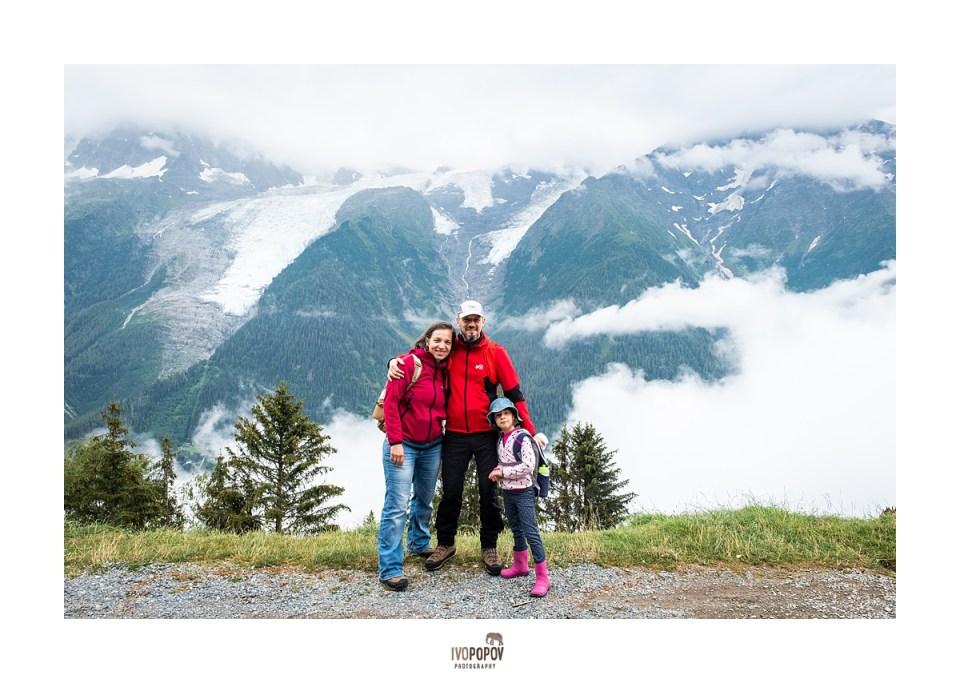 Family photo session in Park Merlet Chamonix