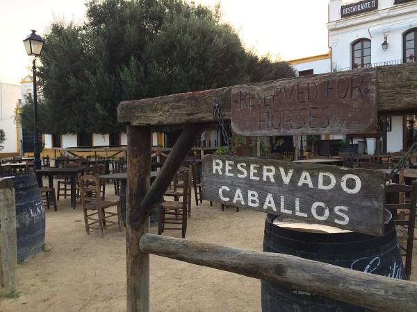 """""""Horse parking"""" in El Rocío"""