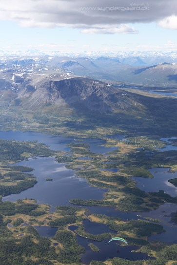 The area NE of Hemsedal as seen from almost 3000m.
