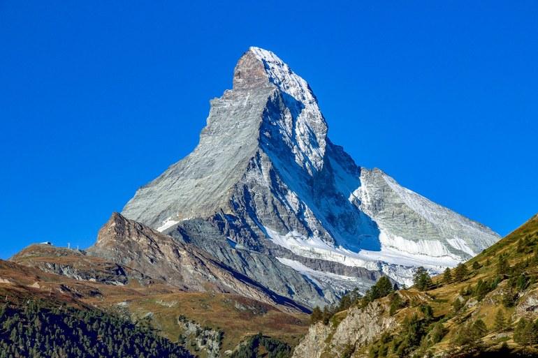 The Matterhorn near Zermatt, Hiking the Haute Route in France and Switzerland