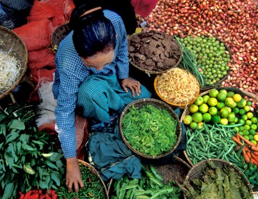 Burma, Market, Produce