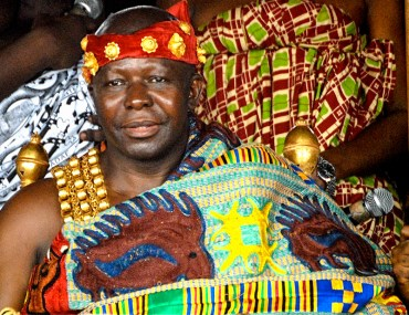 The Ashanti King at An Ashanti man displaying his gold ring at the Akwasidae Festival in Ghana.