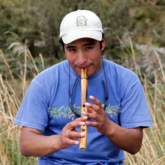 He played that flute most of the way, while I could barely breathe ...